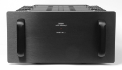 M2.2: 220 W class A/AB hybrid monoblock with no overall feedback rated 1-16 Ohms (MSRP Price US$27,290/pair)